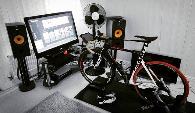 Thumbnail Credit (road.cc): . We're jealous of some of your indoor riding setups