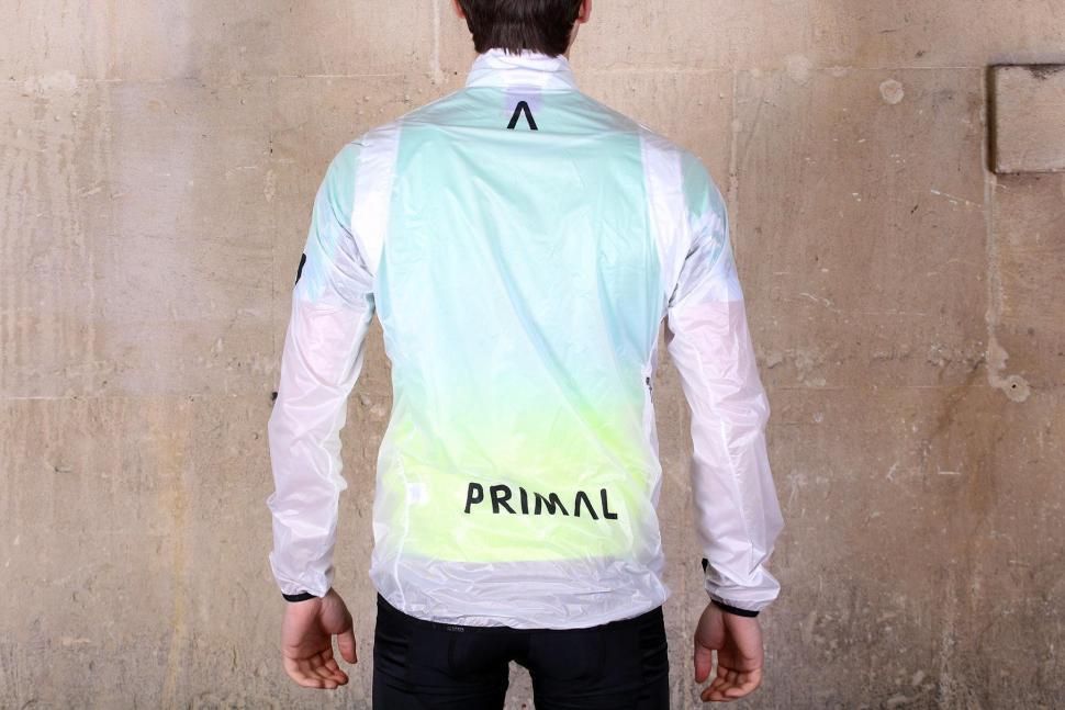 Primal Onyx Mens Clear Rain Jacket - back.jpg