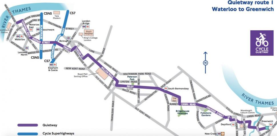 Quietway 1 route map (source TfL).jpg
