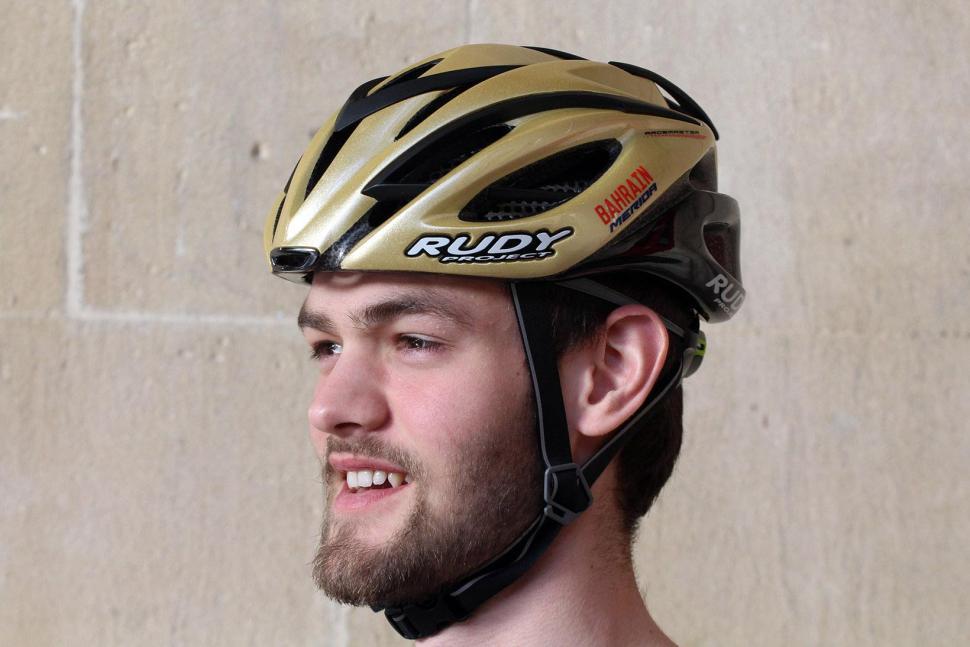 Rudy Project Racemaster Gold Velvet Helmet - worn.jpg