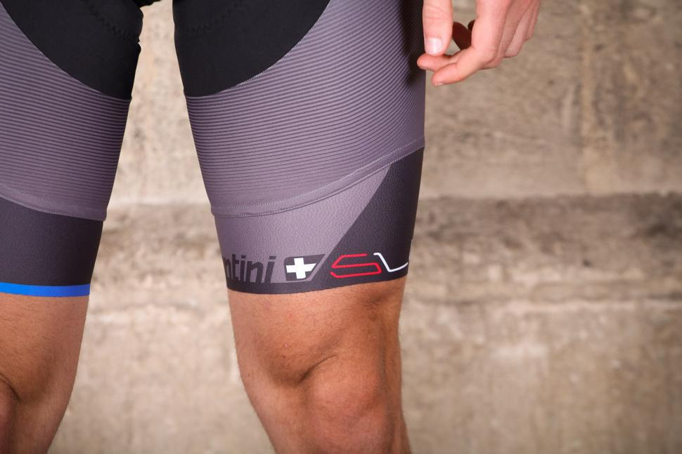 Santini Sleek Plus Bib Shorts C3 Padding - cuff.jpg