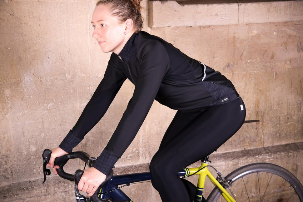 Santini Womens Beta Winter Windstopper Jacket - riding.jpg
