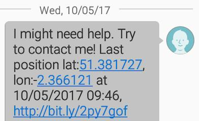 Emergency SMS example