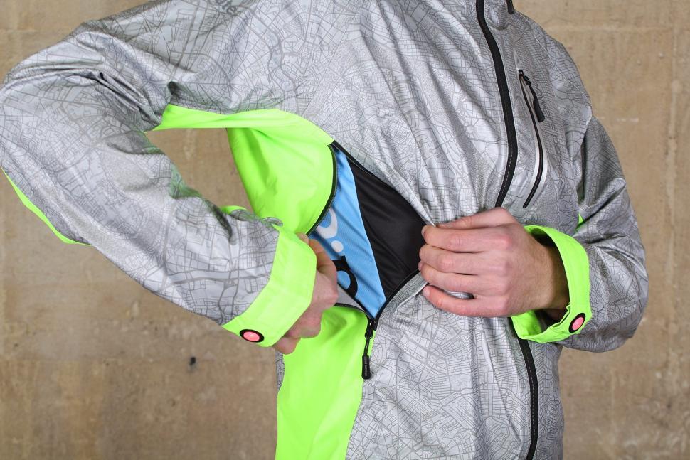Showers Pass Mens Hi Vis Torch Jacket - side vent.jpg