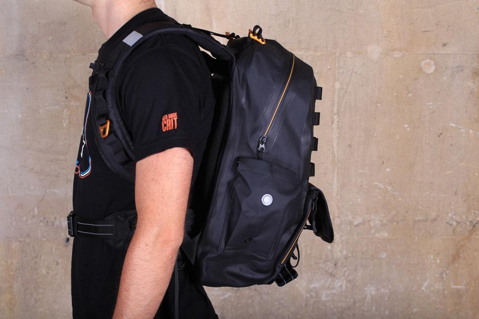 Showers Pass Utility Waterproof Backpack - side on.jpg