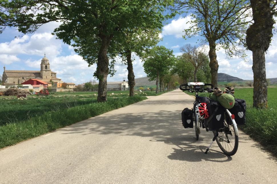 Spain to Norway on a Bike Called Reggie by Andrew P Sykes - Castrojeriz in Spain.jpg