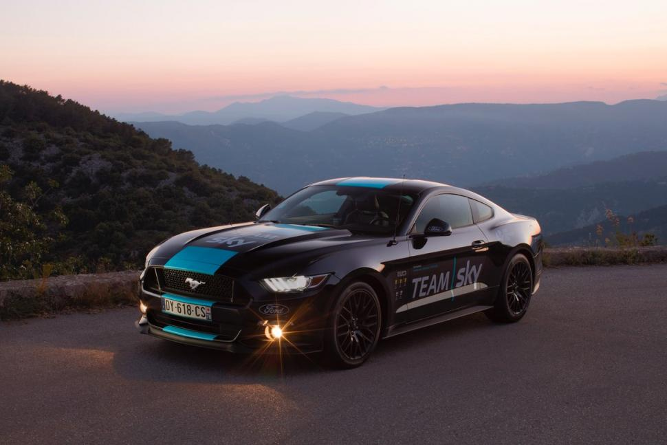 ford mustang joins team sky fleet for tour de france. Black Bedroom Furniture Sets. Home Design Ideas
