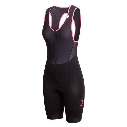 438c25ced Rapha Women s Classic Bib shorts - Black   Hi-Vis Pink - Small - Brand New