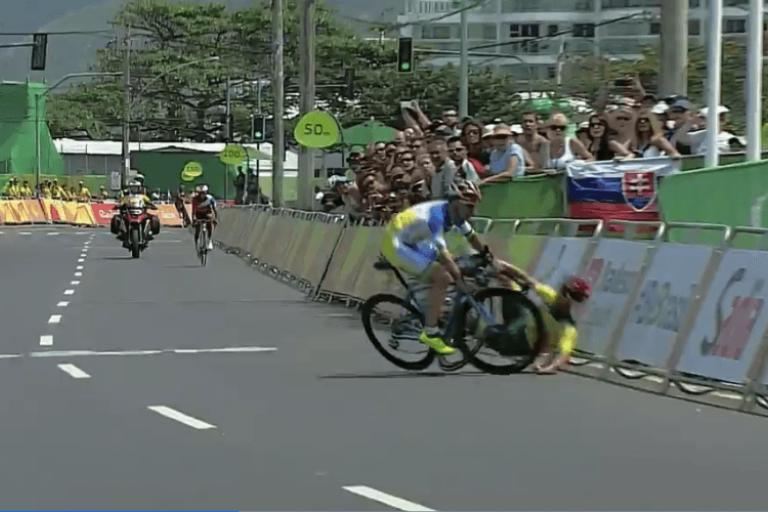 Paralympic cycling men's road race ends in mayhem