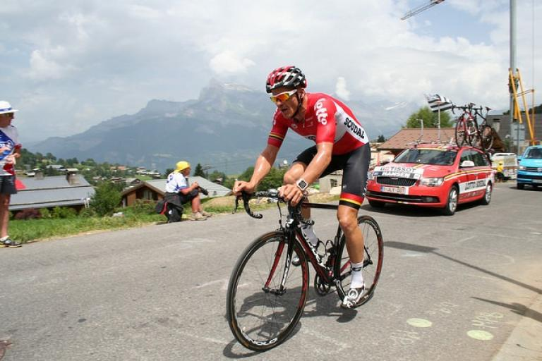 Adam Hansen during 2016 Tour de France (CC licensed by Andrew Sides via Flickr).jpg