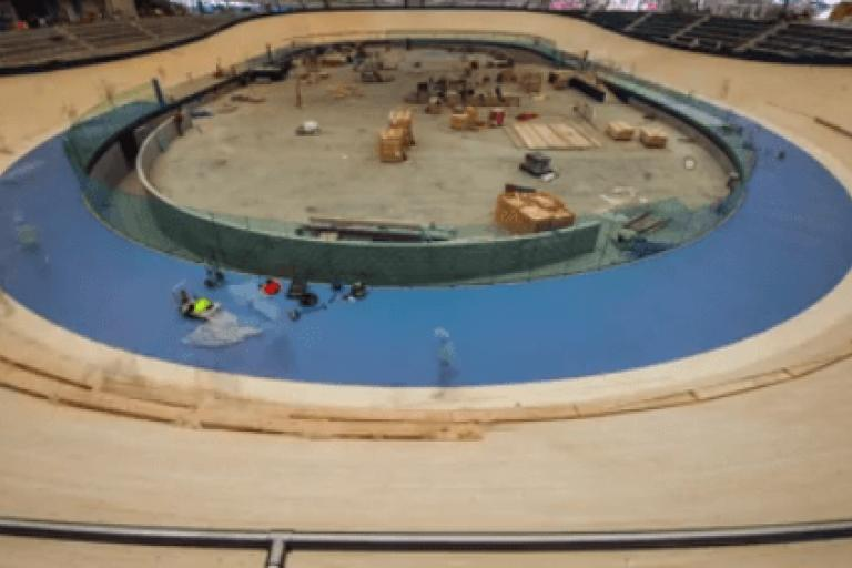 Anna Meares velodrome (source Facebook video still).PNG