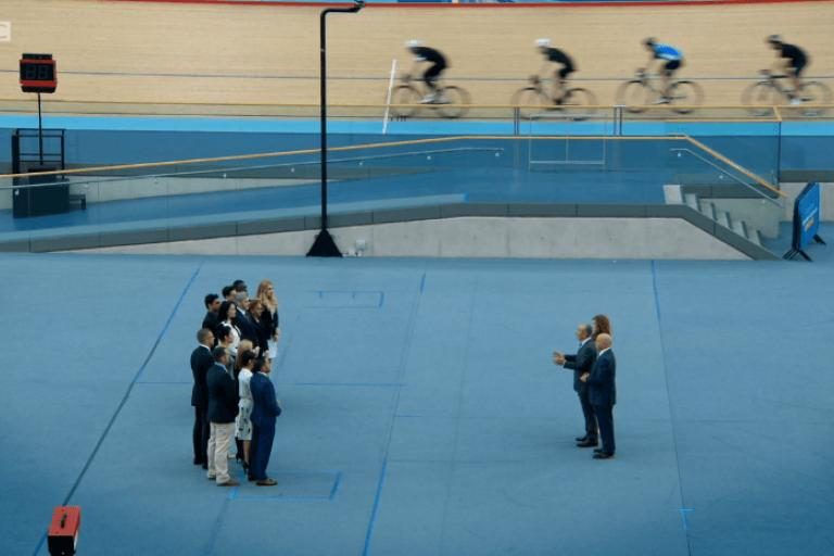 The Apprentice at Lea Valley VeloPark (BBC still).PNG