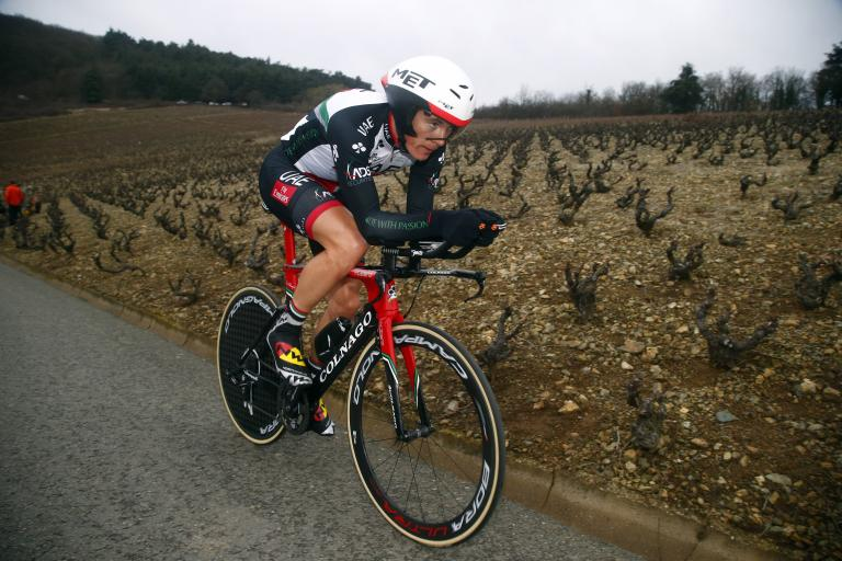 Ben Swift at 2017 Tirreno-Adriatico ITT (picture UAE Team Emirates).jpg