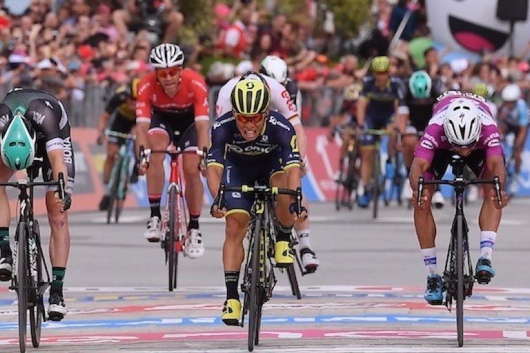 Caleb Ewan wins Stage 7 of 2017 Giro d'Italia (picture credit LaPresse - D'Alberto - Ferrari).jpg