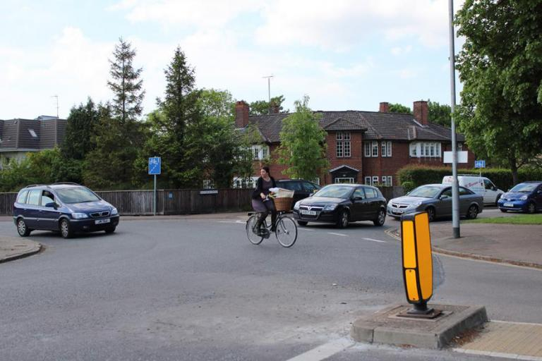 Cambridge cyclist on roundabout.jpg