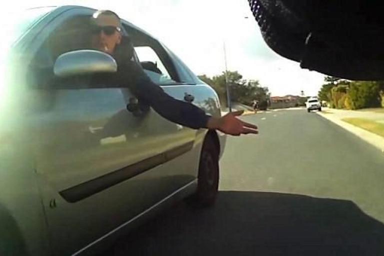 Car passenger smacks cyclists bottom - image via Cycle on Facebook.jpg