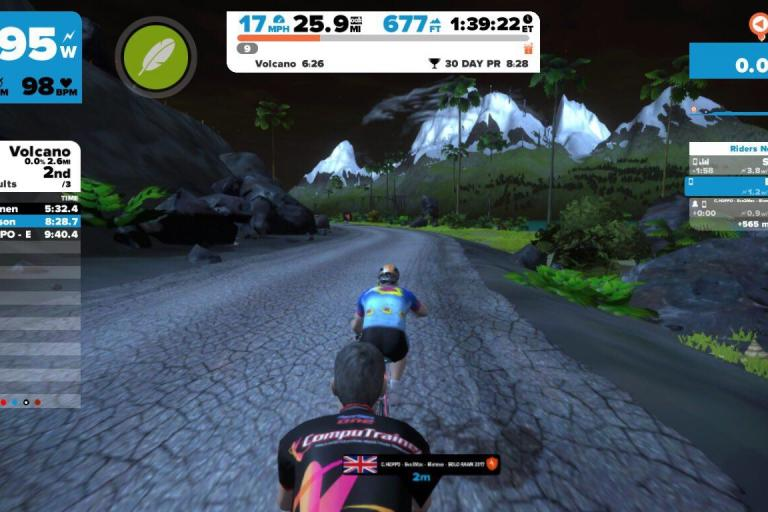 Chris Hoppo Hopkinson Zwift record attempt March 2017.jpg