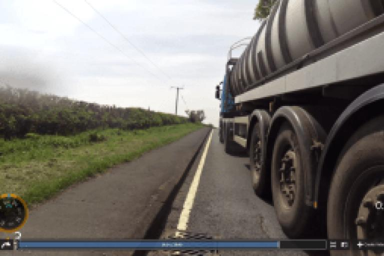 Close lorry pass (image from West Midlands Police)