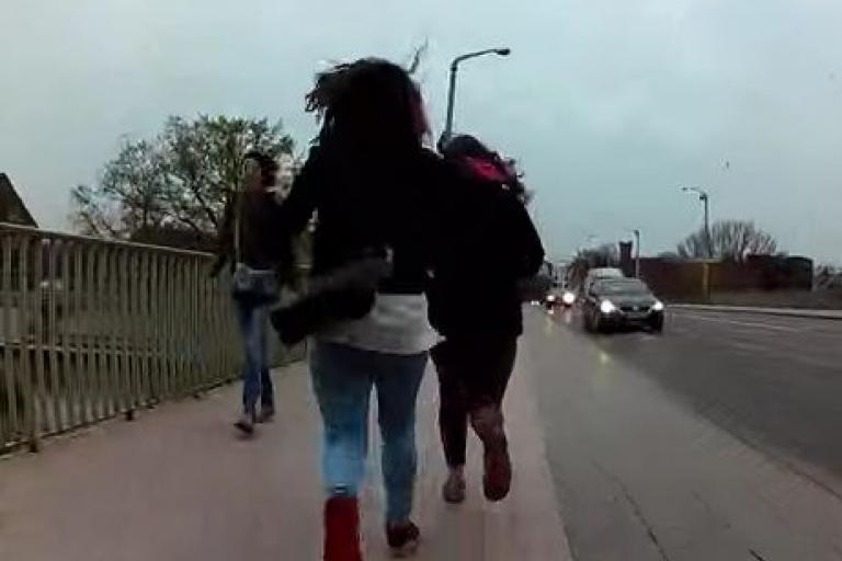 Cyclist thwarts street robbery in Wroclaw (YouTube still).JPG
