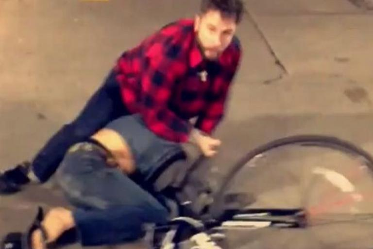 Cyclist wrestles bike thief (Fast Folks Cyclery Instagram video still).JPG