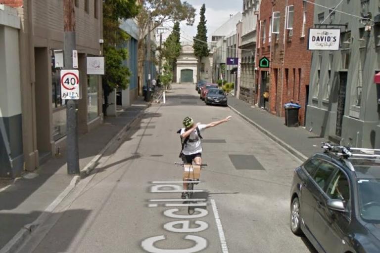 Dabbing Melbourne cyclist.jpg