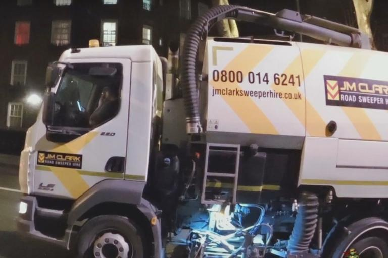 Driver of JM Clark Ltd vehicle using mobile phone at the wheel (image via YouTube).jpg
