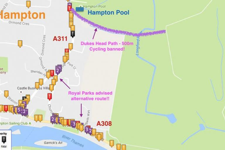 Duke's Head Passage alternative route crash map (via change.org petition).jpg