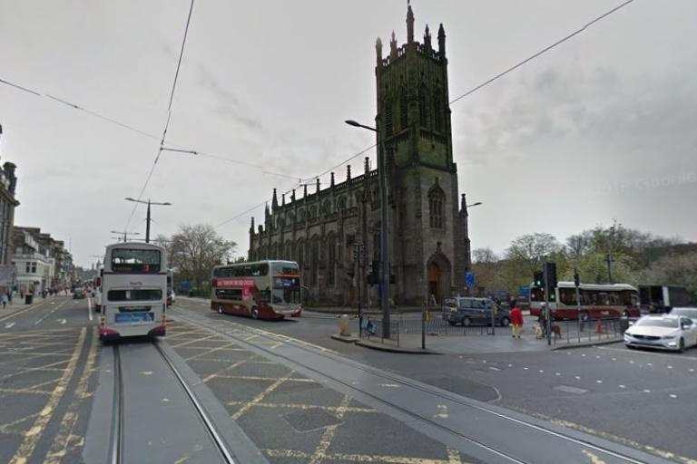 Edinburgh, junction of Princes Street and Lothian Road (GoogleStreetView).JPG