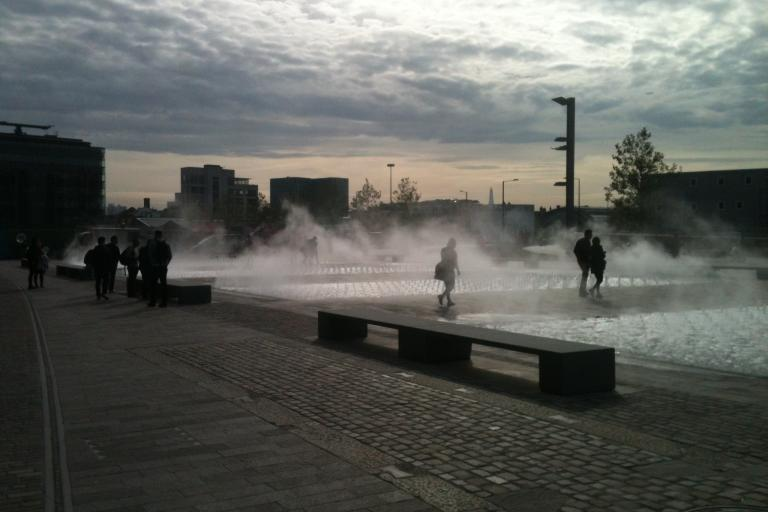 Fountains at Granary Square, King's Cross - on course of Rapha Super Cross finale.jpg