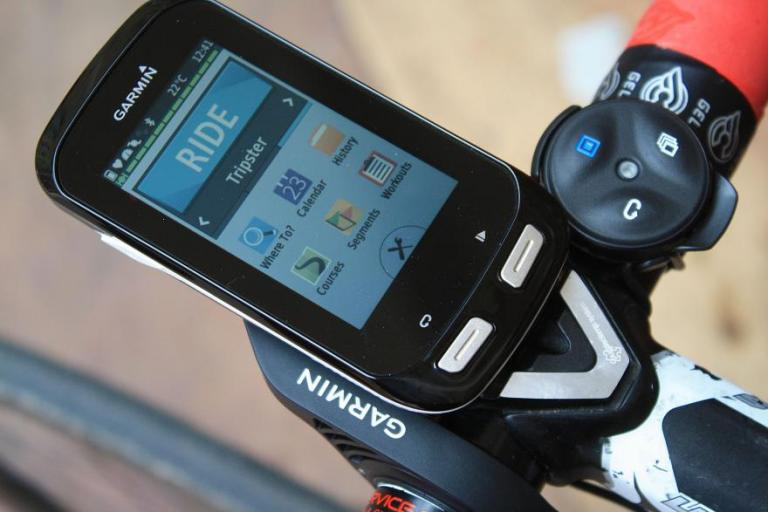 Garmin Edge 1000 unboxing - mounted on ride screen.jpg