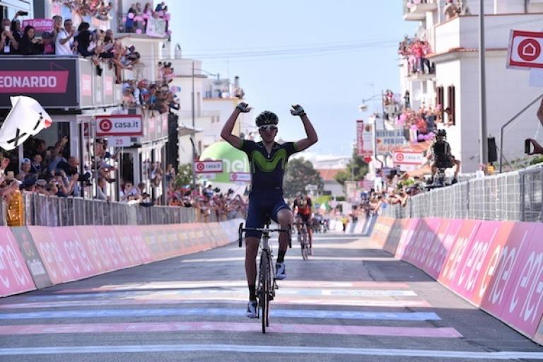 Gorka Izagirre wins Stage 8 of the 2017 Giro d'Italia (picture credit LaPresse - D'Alberto - Ferrari).jpg