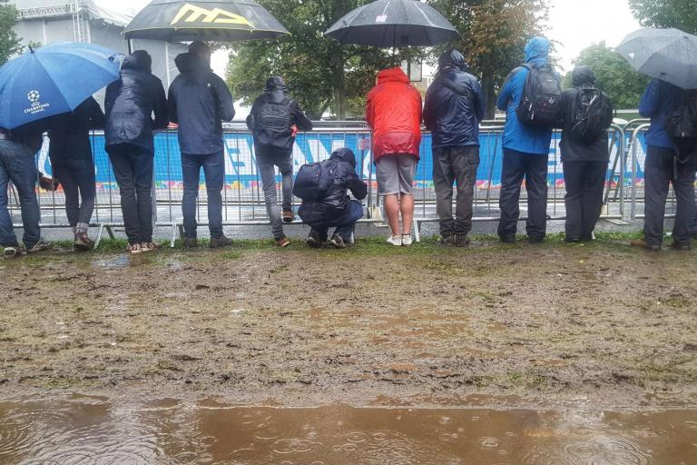 Harrogate Worlds 2019 fan zone mud (credit Simon MacMichael)