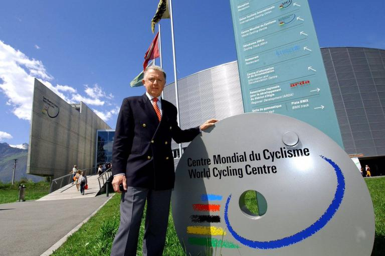 Hein Verbruggen at the World Cycling Centre (source UCI).jpg