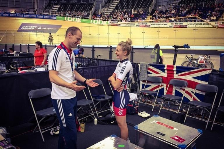 Iain Dyer with Eleanor Dickinson (British Cycling).jpg