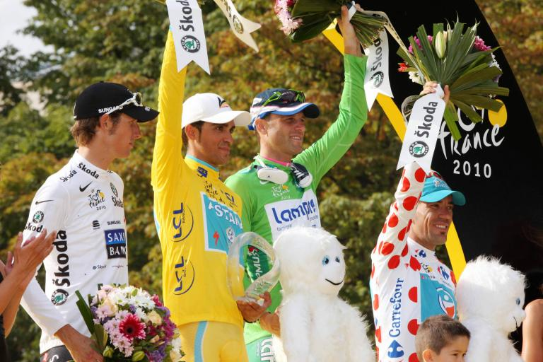 2010 Tour de France podium (Photosport International)