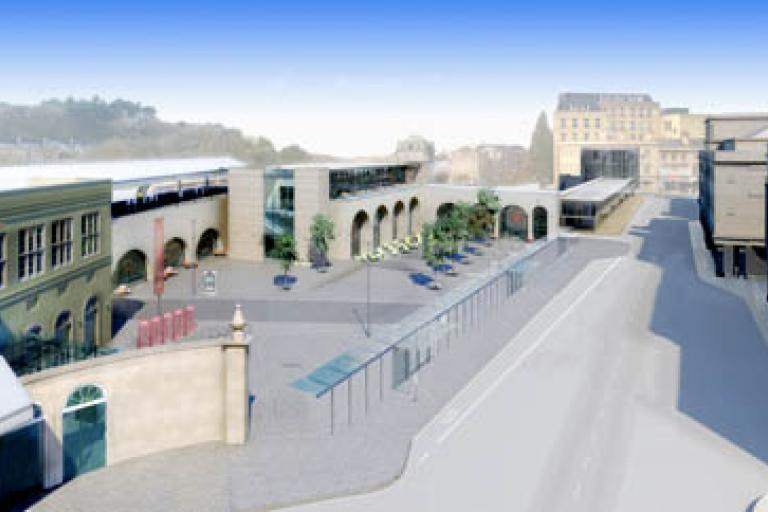 Bath Spa Station - artist's impression of the new interchange