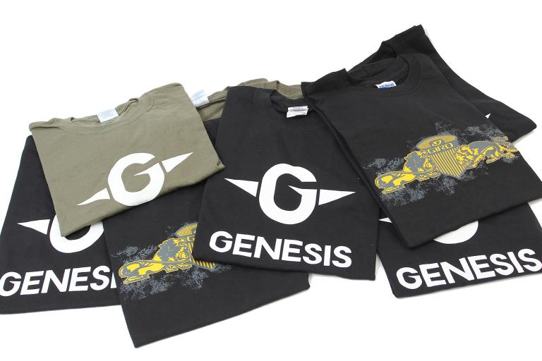 Schwag Genesis and Giro tees