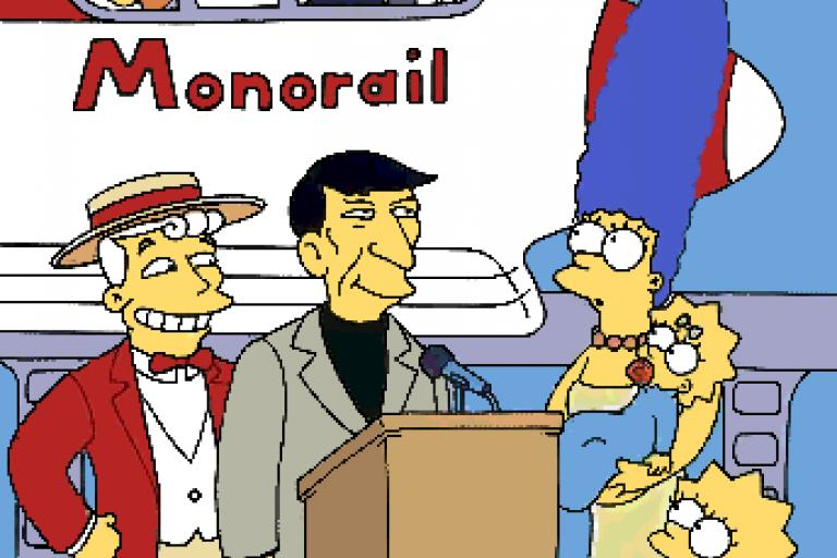 Marge vs The Monorail promotional card (copyright Fox).png