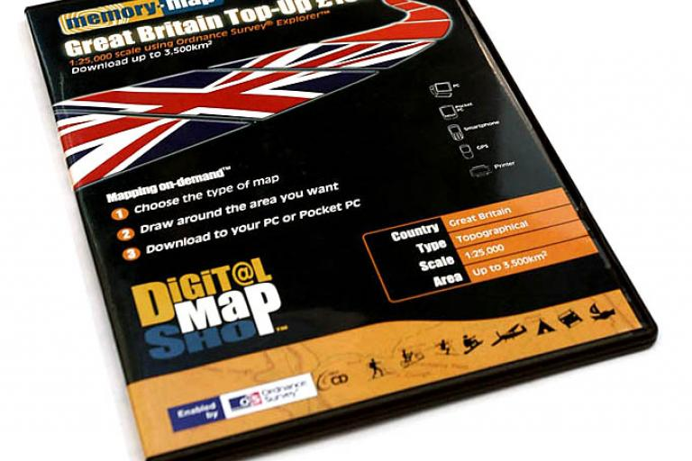 Memory Map Digital Map Shop top up CD