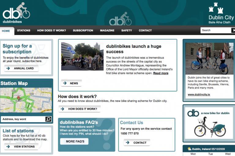 Dublinbikes website