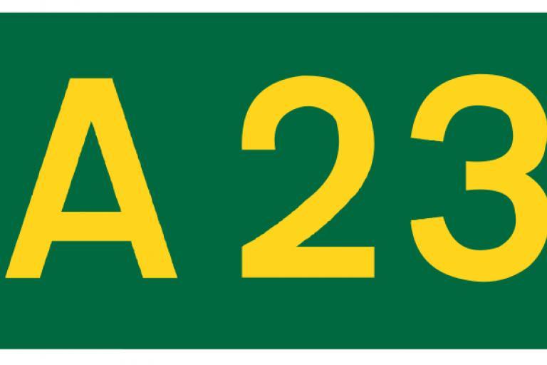 A23 sign
