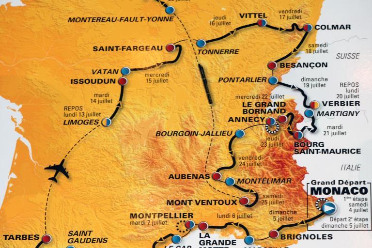 Tour de France 2009 route