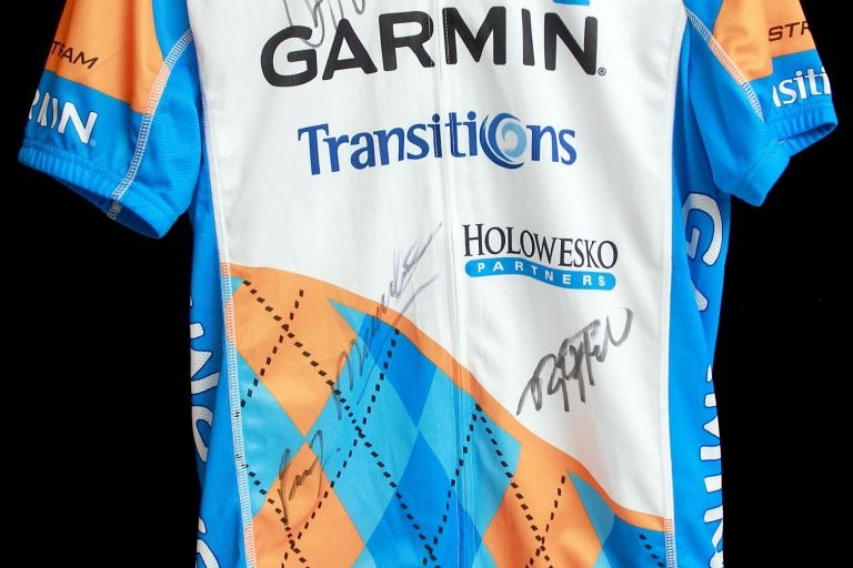 Garmin-Transitions signed jersey