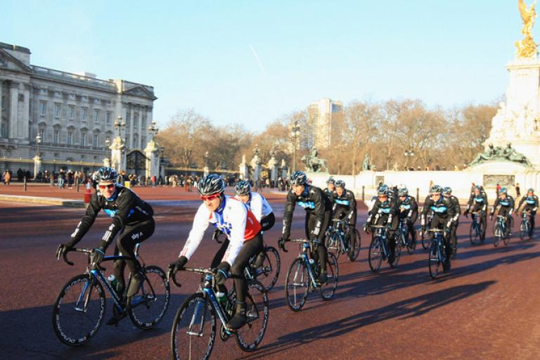 Team Sky ride past Buckingham Palace.jpg
