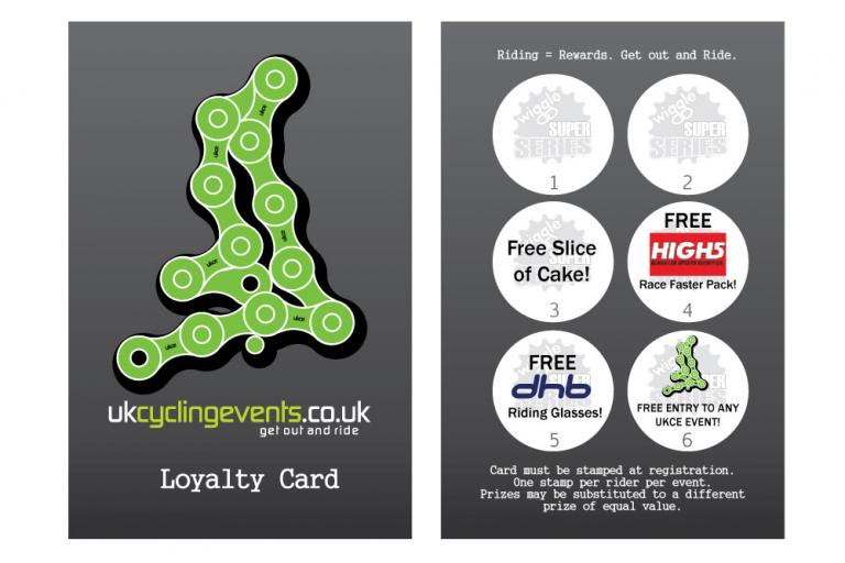 UK Cycling Events Loyalty Card