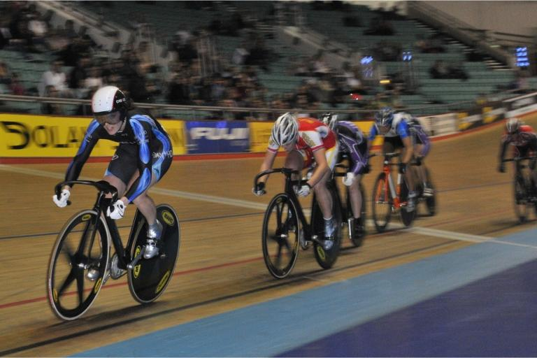 Victoria Pendleton in the British National Track Championships 2009 (picture courtesy of British Cycling).jpg
