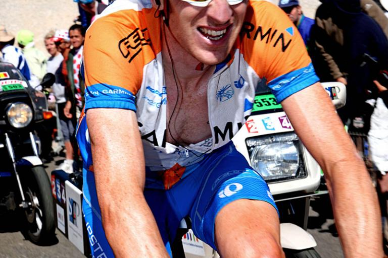 Bradley Wiggins on the Ventoux, TdF 2009 (Photosport Intl)