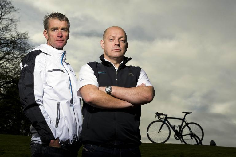 Dave Brailsford and Sean Yates (pic credit: Team Sky)