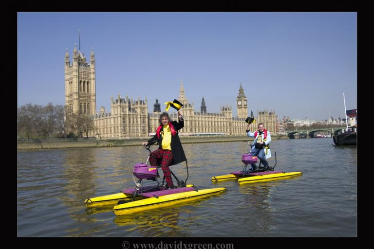 Monster Raving Loony water taxis… fantastic but are they Loony? Pic courtesy David Green