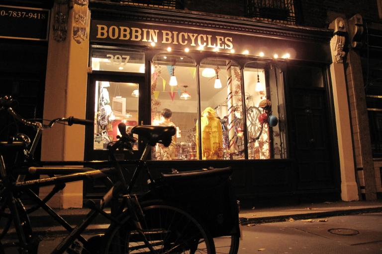 Bobbins shop front, Angel, London